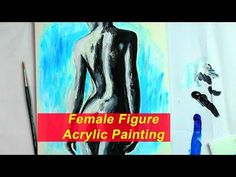 Acrylic Painting Female Figure | Real Time | step by step - YouTube