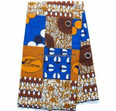 Best Faux Patchwork African fabric, per yard brown/royal blue/ African fabric/ Ankara fabric/ Hollandais/ Wax Print/ Cotton Print/ WP1012B by TessWorldDesigns on Etsy