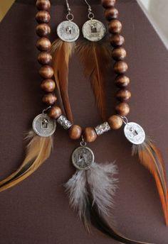 pendientes de plumas, Bisutería, Pendientes