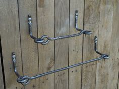 Set of hand forged towel bar and toilet by SiberianWroughtIron