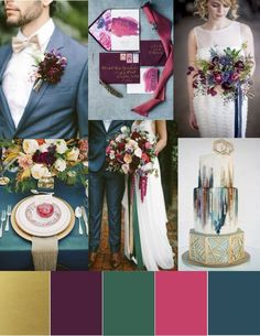 As the Fall wedding season gets closer and closer, we can't help but get more and more excited to see all the beauty it brings! One thing we think we'll be seeing quite a bit of is jewel tones. Dee…