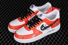 Cheap Nike AF1 Air Force 1 07 Red White Black Casual Shoes CW2288-112-2 Air Force 1, Nike Air Force, Black Casual Shoes, Nike Af1, Red And White, Jordans, Brand New, Cheap Nike, Sneakers