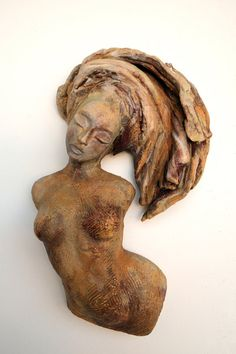 """""""Sway"""" by: Beverly Morrison Stoneware; Slips; Oxides   https://www.etsy.com/listing/193936770/figurative-ceramic-mini-muses-series"""