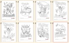 Láminas/ Fichas para colorear instrumentos musicales / Coloring worksheets to learn about the musical instruments