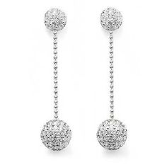 THOMAS SABO Sterling Silver - White CZ Disco Ball Drop Earrings