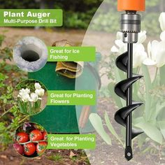 UltraGarden™ - Spiral Drill Bit – saturnprimeco When To Plant Vegetables, Digging Tools, Replant, Planting Bulbs, Types Of Soil, Shop Plans, Easy Garden, Plantation, Amazing Gardens