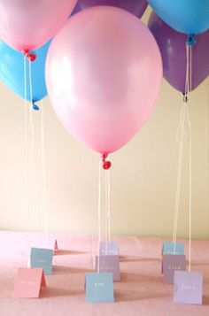 tie favors to a balloon