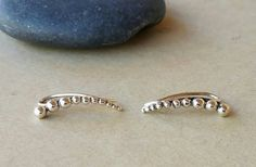 Hey, I found this really awesome Etsy listing at https://www.etsy.com/listing/487308974/sterling-silver-granulation-ear-climbers