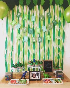 Just a bit proud of my sons first birthday decor. Dinosaur party!