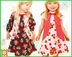Peasant DRESS PATTERN for Girls 12m12y by DressPatterns4Girls, $6.90