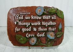 Vintage ChalkWare Prayer Plaque  Bible Quotes by DivineOrders, $11.00