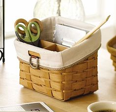 Use this TV Time Basket to organize and store your pens, pencils, highlighters and notepads on your desk.