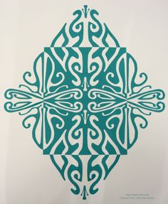 Notan paper cutting designed and cut by Alicia Kay.