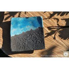 Petit vide poche/diffuseur carré bleu