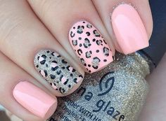Print nails, cheetah nail designs, stiletto nails, gel nail designs, cute a Pink Cheetah Nails, Cheetah Nail Designs, Leopard Print Nails, Leopard Prints, Leopard Nail Art, Nails For Kids, Girls Nails, Nail Stiletto, Jolie Nail Art