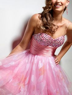 Spaghetti Strap Princess Short-Length Homecoming Dress with Sequins