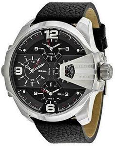 3f4d1883eea Diesel Uber Chief Black Dial Black Leather Quartz Men S Watch Dz7376 Orig Relógios  Masculinos