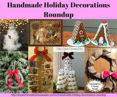 Handmade Holiday Decorations Roundup - Experimental Homesteader Crafty Creations http://experimentalhomesteader.com/handmade-holiday-decorations-roundup-experimental-homesteader-crafty-creations/?utm_campaign=coschedule&utm_source=pinterest&utm_medium=Sheri%20Ann%20Richerson%20-%20Experimental%20Homesteader%20&utm_content=Handmade%20Holiday%20Decorations%20Roundup%20-%20Experimental%20Homesteader%20Crafty%20Creations
