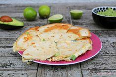 mexikanische quesadillas mit guacamole