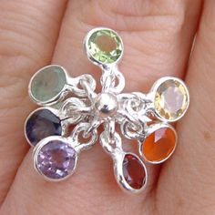 Well being 7 Chakra Ring, chakras jewelry | shanti boutique spiritual jewelry