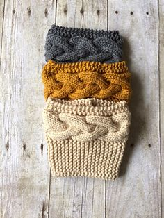 Cabled Boot Cuffs pattern by Purl & Co These are a great way to add some pretty sweet style to your outfit! Cabled Boot Cuffs pattern by Purl & Co These are a great way to add some pretty sweet style to your outfit! Crochet Boot Cuffs, Crochet Boots, Knit Boots, Knit Or Crochet, Knitting Stitches, Knitting Socks, Hand Knitting, Knitted Hats, Sweet Style
