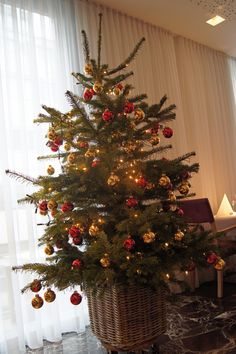 Christmas tree at ARCOTEL Rubin Hamburg