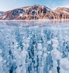 Frozen Baikal Lake//