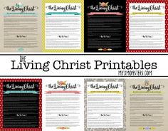 Living Christ Printables -- all 8 options available FOR FREE at my3monsters.com