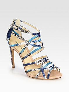Python Ankle Strap Sandals by Alexandre Birman