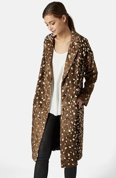 Topshop Faux Fur Long Coat available at #Nordstrom  $250
