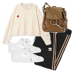 """Untitled #4356"" by theeuropeancloset on Polyvore featuring adidas Originals, Chloé and Puma"