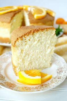 This citrusy chiffon cake is a light and fluffy dessert to have even on a warm day!