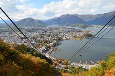 Kawaguchi lake from cable car view