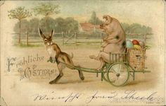Postmark/Cancel:1903 Apr-11 Brandford Easter Bunny & Pig