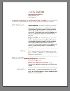 15 Completely Free Resume Templates Microsoft Word