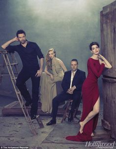 Haunting: The cast of Les Miserables star in a stunning photo shoot for the new issue of The Hollywood Reporter