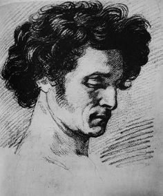 Delacroix neoclassical charcoal study Charcoal Portraits, Charcoal Art, Male Portraits, Charcoal Drawings, Renaissance Portraits, Anatomy Sketches, Portrait Sketches, Types Of Art, Pretty Pictures