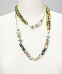 Take a look at this Green Maggies Mix-n-Match Magnetics Necklace & Bracelet Set by Alexa's Angels on #zulily today!