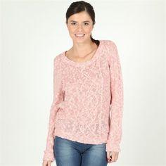 Pimkie.fr : Le pull torsadé passe à l'heure d'été avec sa jolie maille coton rose et blanche.