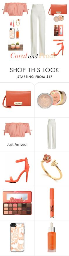 """""""Untitled #94"""" by roberta-sorrentino ❤ liked on Polyvore featuring ZAC Zac Posen, Pilot, Brandon Maxwell, Qupid, Too Faced Cosmetics, Casetify, rms beauty and Alexis Bittar"""