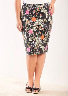 Fashion Plus Size - Large Size Womens Clothes, Tops & Dresses | Fashionable Plus Size Clothes - SIREN SKIRT - Virtu