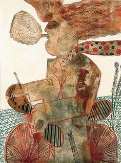 Φασιανός Αλέκος-Καπνιστής Greece Painting, Greek Art, 10 Picture, Color Of Life, American Art, Art Boards, Printmaking, Folk Art, Modern Art