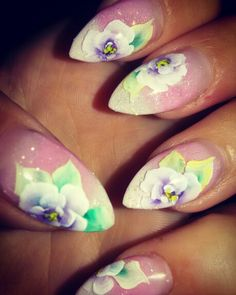 One stroke nail art  I love them :)