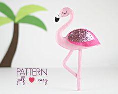 40% OFF Flamingo Sewing Pattern, Felt Pattern, Felt Flamingo Pattern, Baby Mobile Pattern, Cake Topper, Flamingo Ornament, Flamingo Nursery