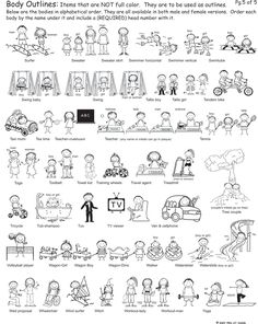 Outline Bodies 5 from Pen At Hand - Stick Figure Products by Ronnie Horowitz