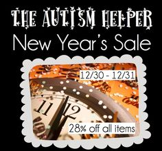 NYE Sale! All AUTISM resources are 20%! Check out materials to work on data collection, behavior management and a wide range of academics!
