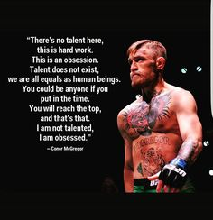 #conormcgregor #mma #motivation #obsession #nodaysoff #nobreaks #insparation #gym #martialarts #quotes #motivationalquotes #beast