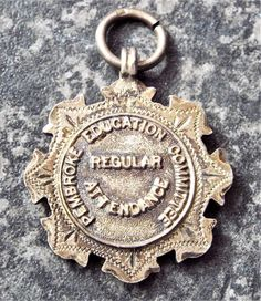 Pembroke Education Committee 1906 Hallmarked Sterling Silver Attendance Medal