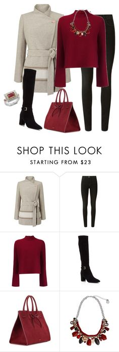 """""""outfit 5418"""" by natalyag ❤ liked on Polyvore featuring Jacques Vert, J Brand, Proenza Schouler, Kate Spade, Mansur Gavriel, Erica Lyons and Emma Chapman"""