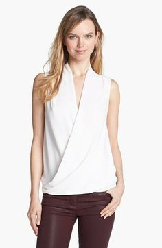 love this faux wrap top